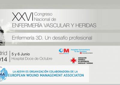 XXVI Congreso Nacional de Enfermería Vascular Madrid 2014