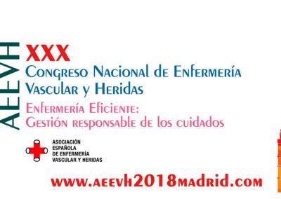 XXX Congreso Nacional de Enfermería Vascular Madrid 2018