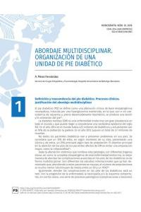ABORDAJE MULTIDISCIPLINAR. ORGANIZACIÓN DE UNA UNIDAD DE PIE DIABÉTICO